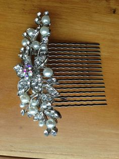 Wedding Hair Piece to Match Your Diamond Ring, Wedding Comb, Hair Comb, Bridal Hair Piece, $20