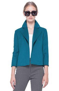Akris punto Three-Quarter-Sleeve Jacket available at #Nordstrom