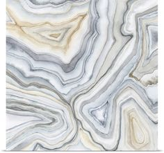 Megan Meagher Poster Print Wall Art Print entitled Agate Abstract II, None