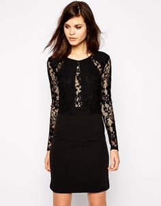 Y.A.S Lava Dress with Lace Inserts