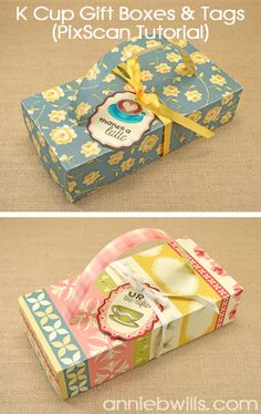 KCup Gift Boxes with Tags by Annie Williams - Silhouette pixscan tutorial