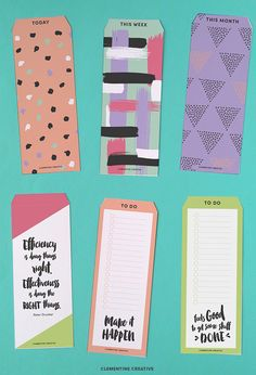 These printable top tab dividers help you keep the most important information right at your fingertips! Flip to the right page easily and quickly left off where you were last. These tab dividers are just what you need to keep your planner or agenda organised. These can also be used as bookmarks. Download them right here for free.