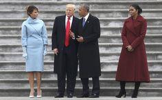 Trumpy y Obama, el día de la toma de posesión.