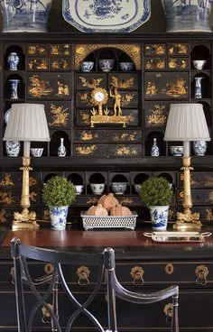 John B. Murray Architect | amazing Chinoiserie Desk