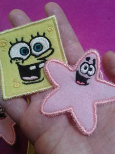 Sponge Bob and Patrick Sew On Patches by primadiana on Etsy