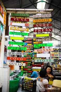 Mercado 20 in Oaxaca, Mexico. via Ursula Koenig / The visuals of the market are gorgeous. More here: http://www.lifeandfoodblog.com/?p=4047