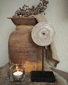 Molensteen ornament geknutseld  met zelfdrogende klei