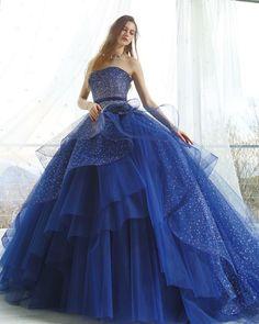 2017新作✨ #couturefashion #couturedress #fashion  #fashionblogger #fairytale #brides #dress  #marryxoxo #ウエディングドレス#カラードレス #プレ花嫁 #2018春婚 #ブライダル#ドレス #グリッター#キラキラ#大人可愛い#ネイビー #kiyokohata #キヨコハタ KH_0409