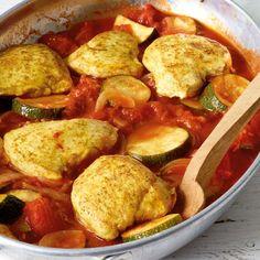 ESSEN & TRINKEN - Curryhähnchen aus dem Ofen Rezept