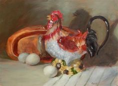 """Daily Paintworks - """"Bird of A Different Feather"""" - Original Fine Art for Sale - © Lina Ferrara"""