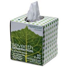 Seventh Generation Facial Tissue, Recycled, WhiteFacial tissue is made of two-ply paper, whitened with an environmentally safe process and never w