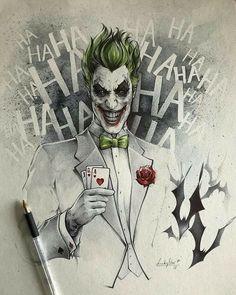 The Joker by Stephanie Lavaud - Batman Art - Fashionable and trending Batman Art - DC Comic Book Artwork The Joker by Stephanie Lavaud Art Du Joker, Le Joker Batman, Harley Quinn Et Le Joker, Der Joker, Joker Comic, Batman Art, Batman Stuff, Spiderman, Joker Drawings