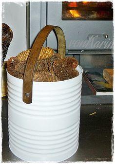 Ucycling: Dose und Ledergürtel / Tin can and leather belt  - DIY ... alles vonKarin