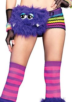 """Furry Monster Fanny Pack - Purple   ... coolest """"fanny pack"""" thing ever..."""