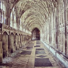 Gloucester Cathedral, UK. I took this last year and I didn't know some of Harry Potter was shot here until I recognised it during the movie! It really is  a very beautiful building and well worth a visit if you are in the UK. @chappichapstick