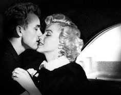 James Dean and Marilyn Monroe. Apparently this never happened, but what a lovely couple they would have been.