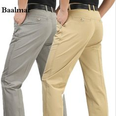 Free Shipping 2016 Spring And Summer New Mens Pants Casual Straight Long Pants For Man Fashion Cotton Solid Trousers 42 43 44