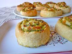 girelle di pizza con zucchine fontina e speck