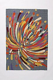 fireworks rug from anthropologie. I love the graphic, and it's an easy way to bring pops of color into a room.