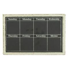 Idina Chalkboard Weekly Calendar