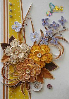 Neli Quilling Art: Quilling cards - summer