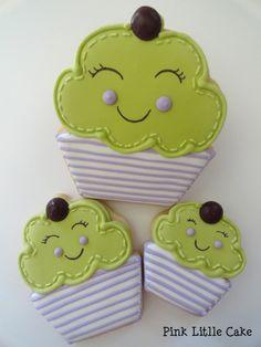 Smiling Cupcake Cookies