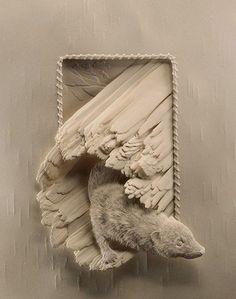 Mind Blowing paper sculptures - Calvin-Nicholls