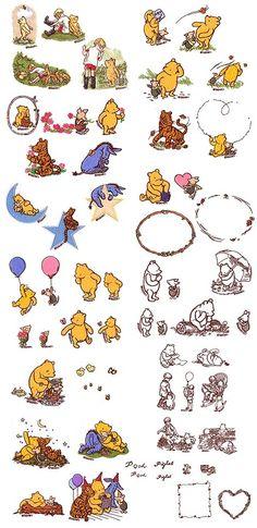 68 trendy tattoo disney ideas winnie the pooh <br> Winnie The Pooh Nursery, Winne The Pooh, Vintage Winnie The Pooh, Disney Winnie The Pooh, Trendy Tattoos, Cute Tattoos, Small Tattoos, Winnie The Pooh Tattoos, Handy Iphone