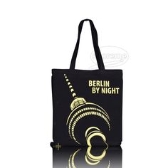 Neon print tote bags design for Berlin by Night