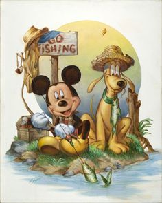 """Gone Fishing with Mickey and Pluto"""