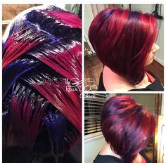 50 Chic Short Bob Hairstyles & Haircuts for Women in 2019 - Style My Hairs Red Hair Color, Cool Hair Color, Purple Hair, Funky Hair Colors, Short Bob Hairstyles, Hairstyles Haircuts, Bob Haircuts, Short Haircut, Trendy Hairstyles