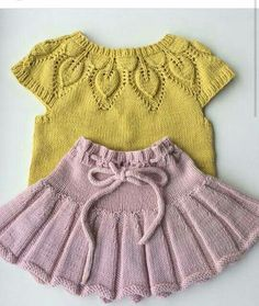 """[ """"baby vest knit baby dress knitted baby dress by KnittingAndYarns"""", """"Baby vest (which I [ """"baby vest knit baby dress knitted baby dress by KnittingAndYarns"""", """"Baby vest (which I Baby Cardigan Knitting Pattern Free, Baby Knitting Patterns, Knitting Dolls Clothes, Doll Clothes, Crochet Baby, Knit Crochet, Knit Mittens, Knitting For Kids, Pulls"""