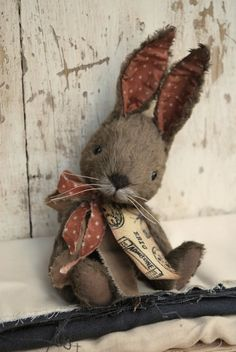 Artist Bear handmade Bunny Eric SOLD by bearwithmee on Etsy, £90.00 so sweet