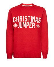 Red (Red) Red Snowflake Christmas Jumper  | 287454060 | New Look