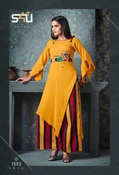swag vol 3 Stylish party wear kurtis concept Kurti Sleeves Design, Kurti Neck Designs, Kurti Designs Party Wear, Pakistani Party Wear Dresses, Party Wear Kurtis, Fancy Blouse Designs, Designs For Dresses, Stylish Kurtis Design, Indian Designer Suits