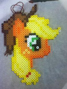 -Perler- Applejack Head by OtakuLuka.deviantart.com on @deviantART