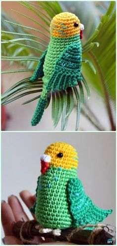 Crochet Amigurumi Parakeet Parrot Free Pattern - Crochet Amigurumi Little World Animal Toys Free Patterns