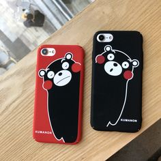 Cute Fashion Couple Cell Phone Case for Apple iPhone 7 6 6s Plus Japan Cartoon Kumanon Kumamoto Protective Shell Hard Back Cover