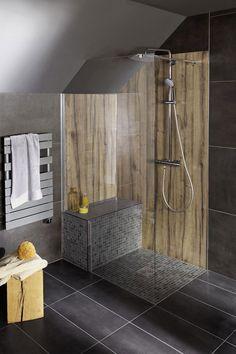 Etagère banc dans la douche