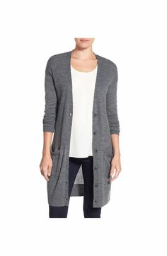 Love the gray color. Length is too long and don't like the pockets or wool fabric.