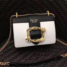 4678fadc6596 Prada Original Calf Leather Cahier Bag 1BD066