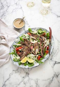 Ostrich steak tagliata recipe