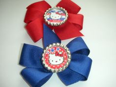 Hello Kitty Bottle Cap Bow.