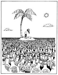 Social Netwoork (Red Social)    Ilustración de QUINO
