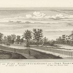 Gezicht op fort Noordwijk in Jakarta, Jacob van der Schley, 1747 - 1779 - Rijksmuseum