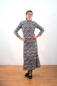 Golden Finn Dress M L, 70s Mod Dress, Mod Maxi Dress, Scandinavian Dress, Jersey Knit Maxi, Bodycon Vintage Maxi Dress, 1970s Finnish Dress