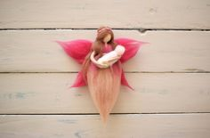 ·· Wool crafted by hand with love ·· por MamaCuac Felt Fairy, Fairy Godmother, Fairy Houses, Pastel Colors, Needle Felting, Wool, Crafts, Inspiration, Etsy