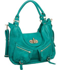 melie bianco ''alyssa'' satchel in bright teal - found this on eBay so i got it for myself as an early birthday present. favorite bag ever!!!