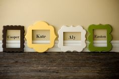 love the picture frames