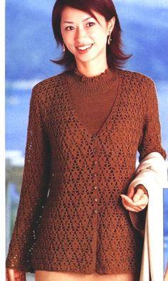 Жакет коричневого цвета
